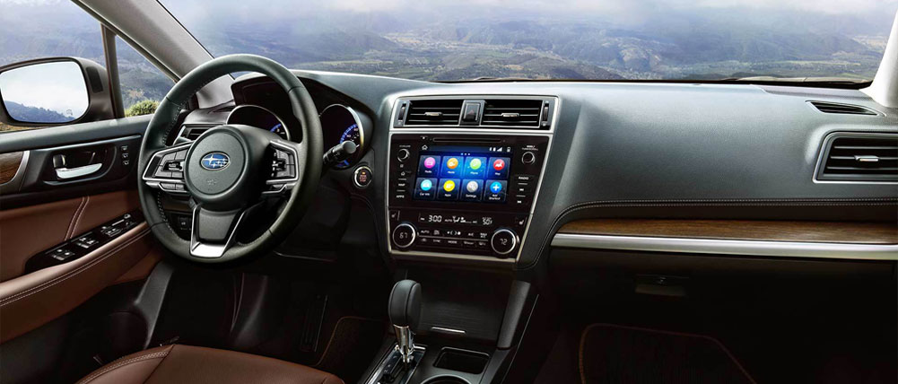 Safety features and interior of the 2019 Subaru Outback - available at our Subaru dealership in Columbus, GA