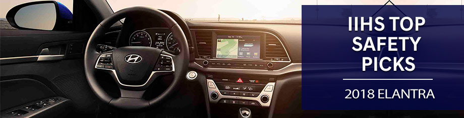Safety features and interior of the 2018 Hyundai Elantra - available at Springfield Hyundai near Philadelphia and Springfield, PA