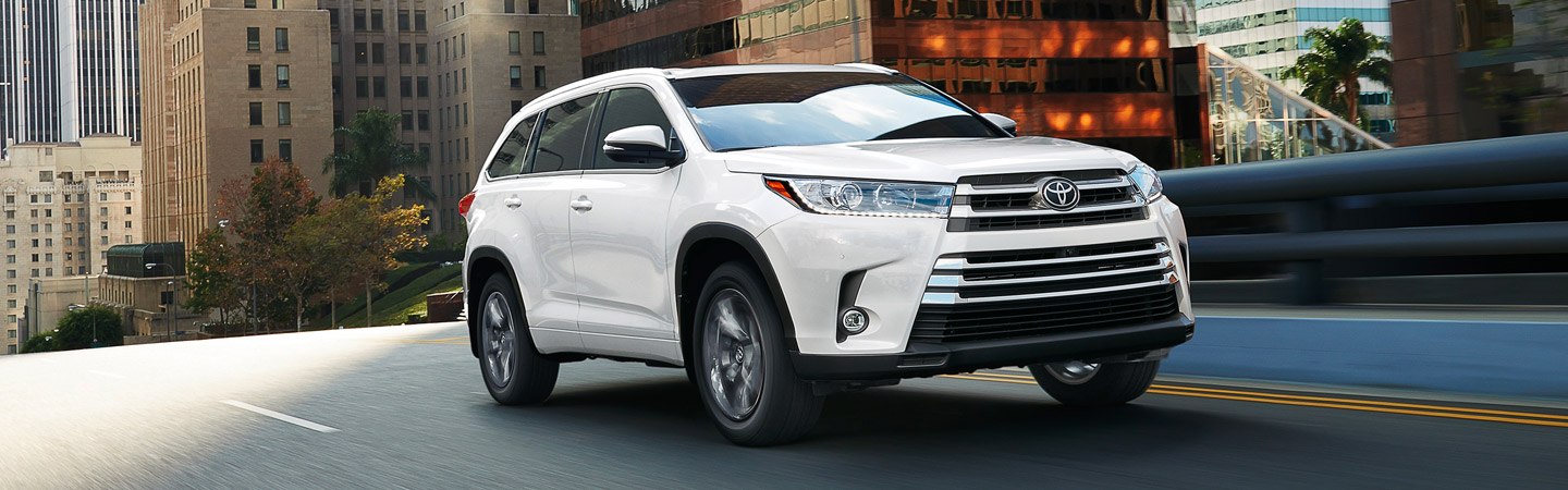 Exterior of the 2019 Toyota Highlander at our Rock Hill Car Dealership