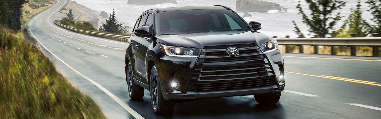 Exterior of the 2019 Toyota Highlander in Rock Hill, SC