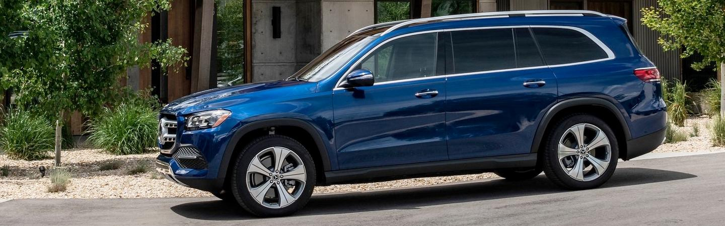 2020 Mercedes-Benz GLS parked outside of a house