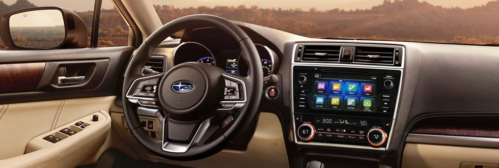 Safety features and interior of the 2019 Subaru Outback - available at our Subaru dealership near Columbus, GA.