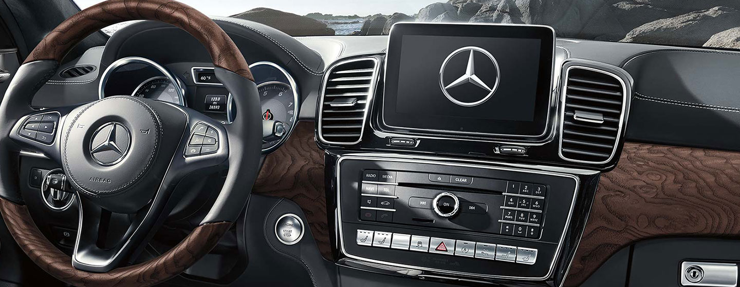 Safety features and interior of the 2019 Mercedes-Benz GLS - available at our Mercedes-Benz dealership near Gainesville, FL.