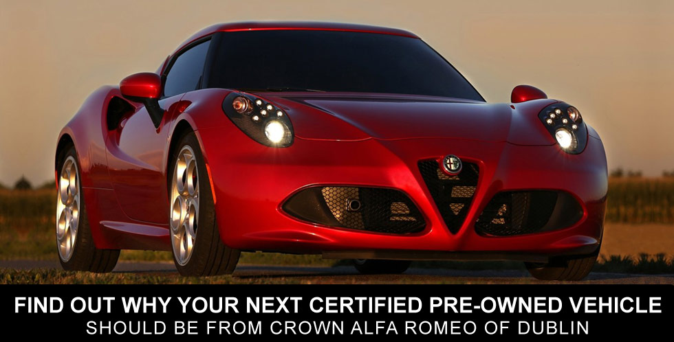 Find our why your next certified pre-owned vehicle should be from Crown Alfa Romeo of Dublin