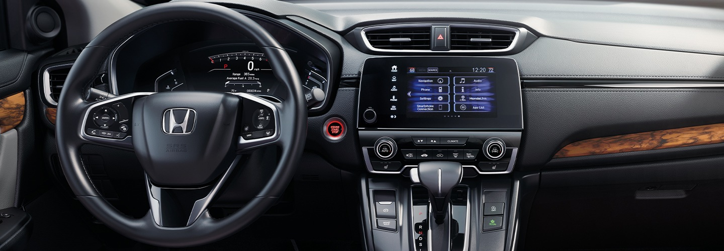 Steering wheel inside the 2020 Honda CR-V