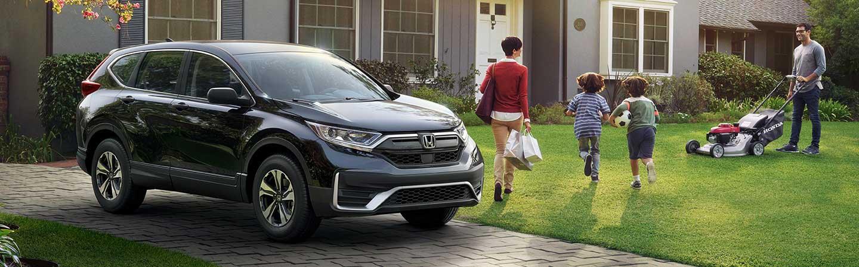 2020 Honda CR-V parked inside a driveway