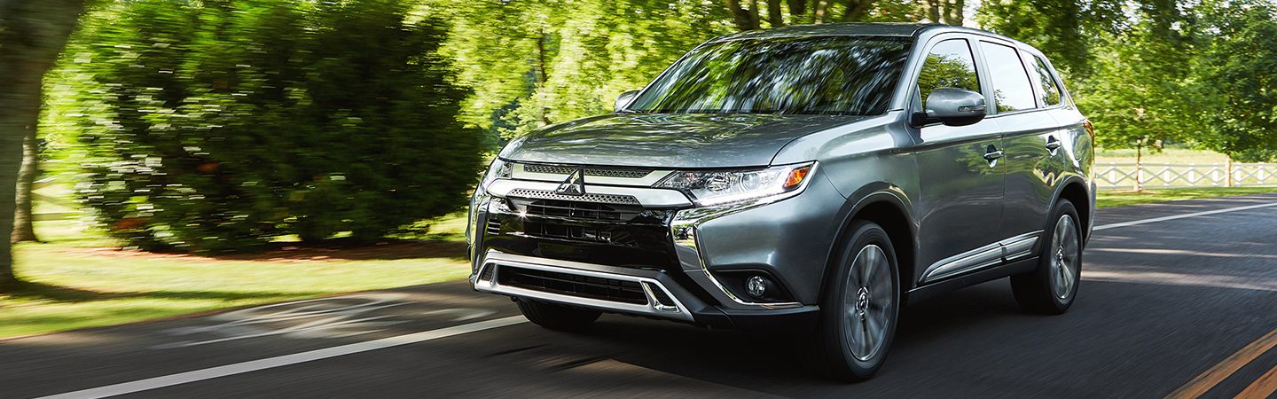 2020 Mitsubishi Outlander driving on a city street