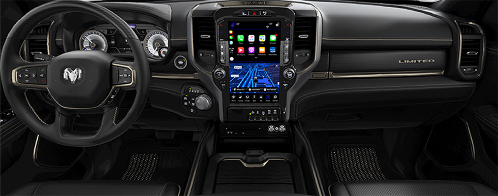Safety features and interior of the 2019 Ram 1500 - available at our Ram dealership near Gainesville