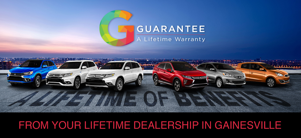 The Lifetime Guarantee available at Gainesville Mitsubishi in Gainesville, FL