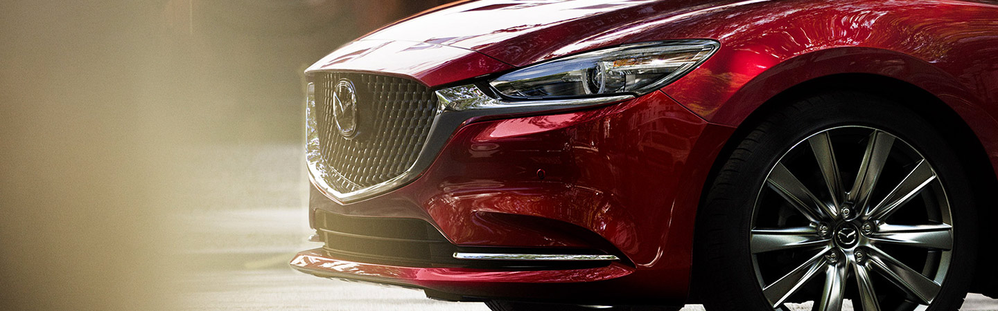 Front grille of the 2019 Mazda6 in Naples, FL