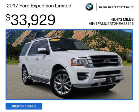 2017 Ford Expedition Limited  - $33,929