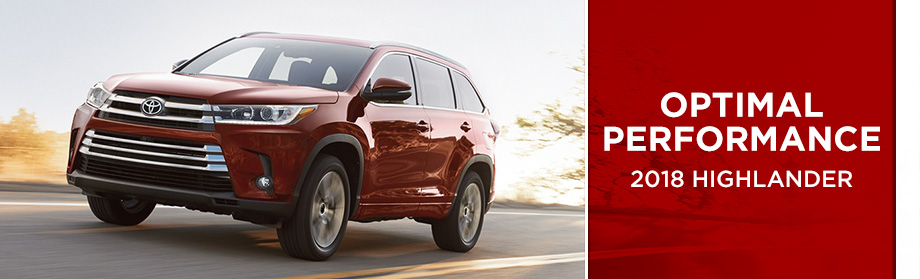 Exterior of the 2018 Toyota Highlander at Rivertown Toyota near LaGrange, GA