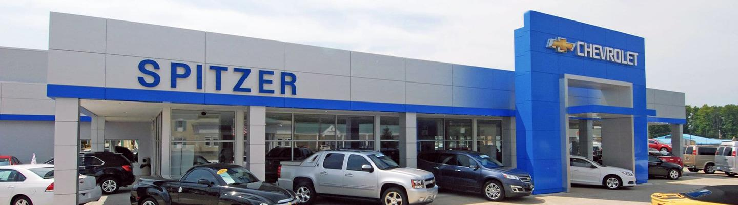 Building front view of Spitzer Chevrolet Amherst dealership