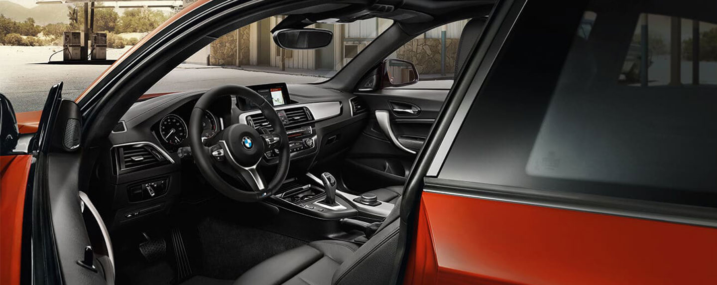 Right side interior of the BMW 2 series