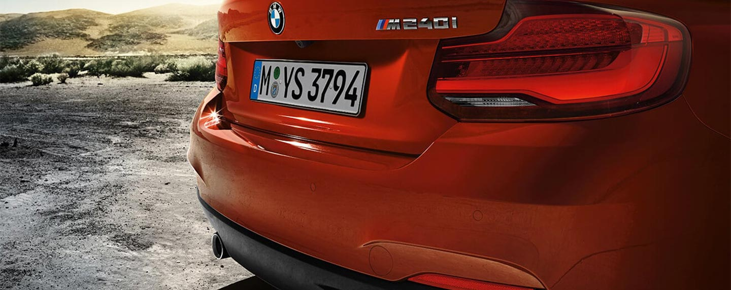 Rear bumper of the BMW 2 series
