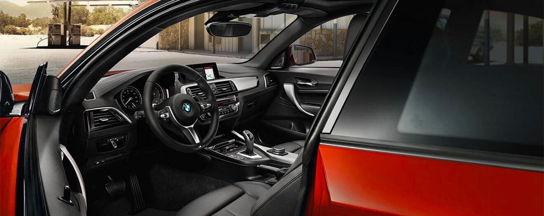 Interior of the BMW 2 series steering wheel