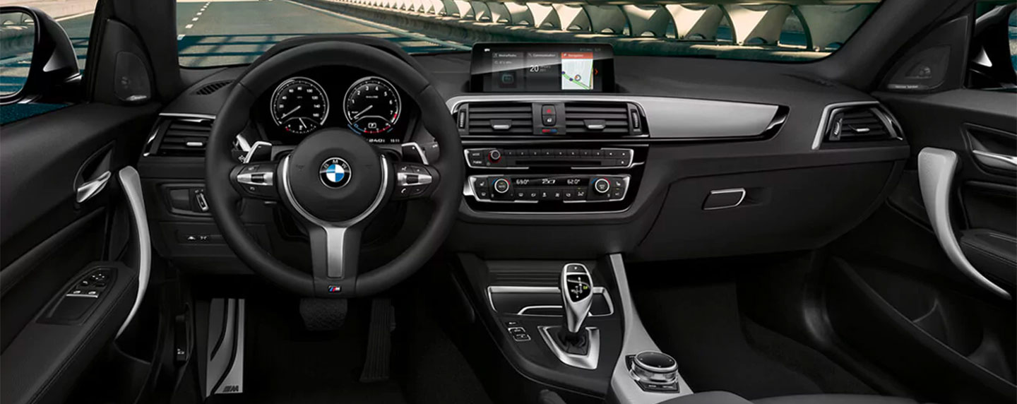 Front interior of the BMW 2 series