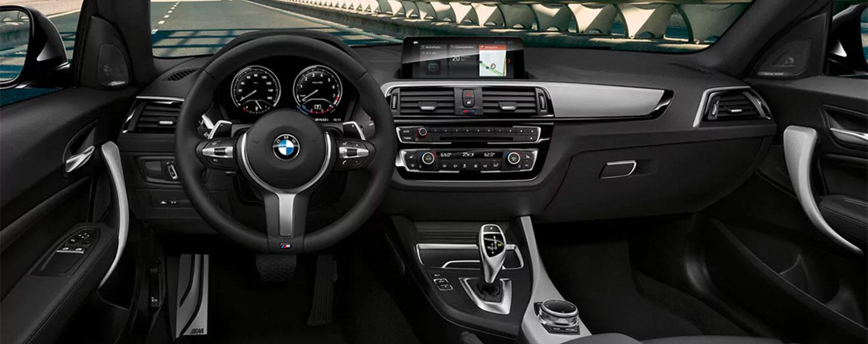 Steering wheel of the BMW 2 series