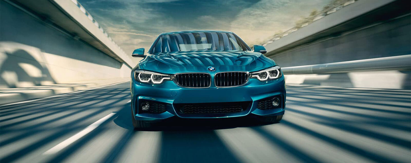 Front of the BMW 4 series driving
