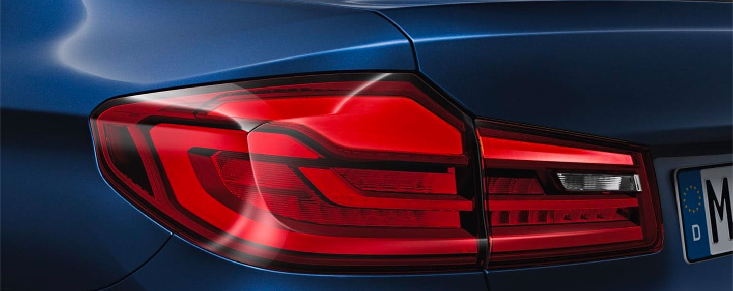 Tail lights of the BMW 5 series