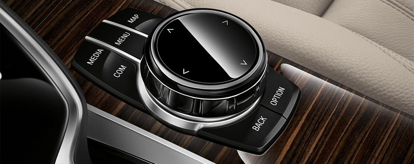 Driver controls  of the BMW 5 series
