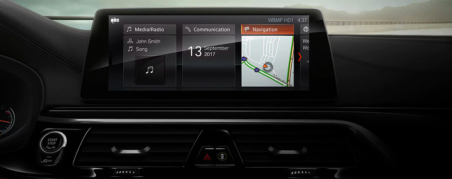 touch screen dashboard of the BMW 6 series