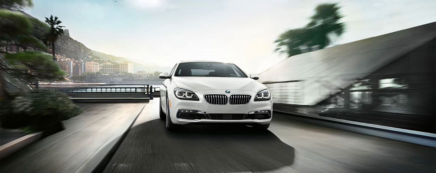 Front of the BMW 6 series in motion