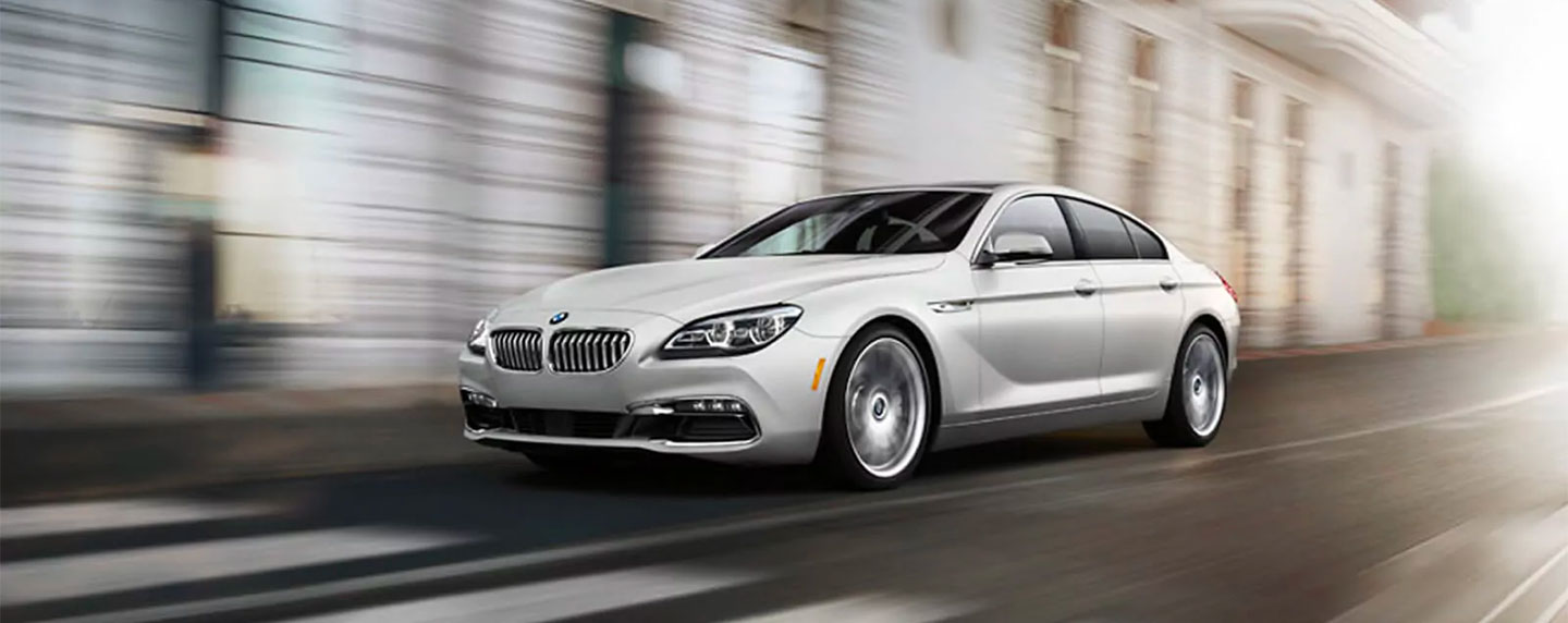 Left side of the BMW 6 series in motion