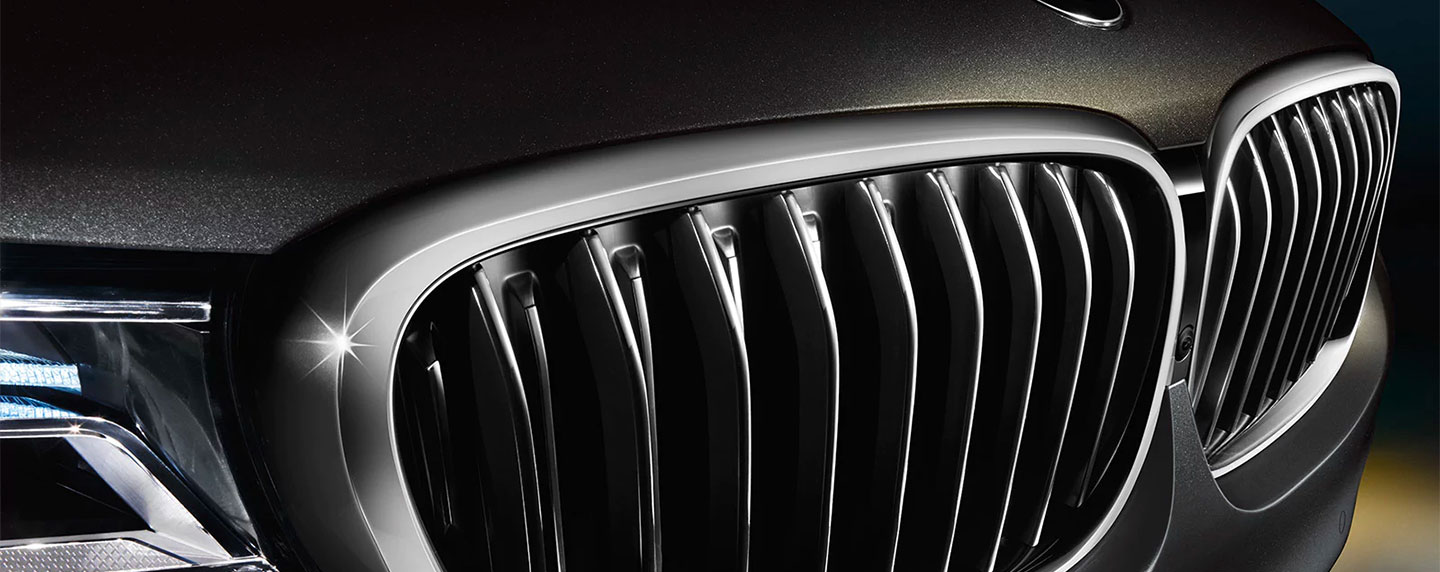 Front grille of the BMW 7 series