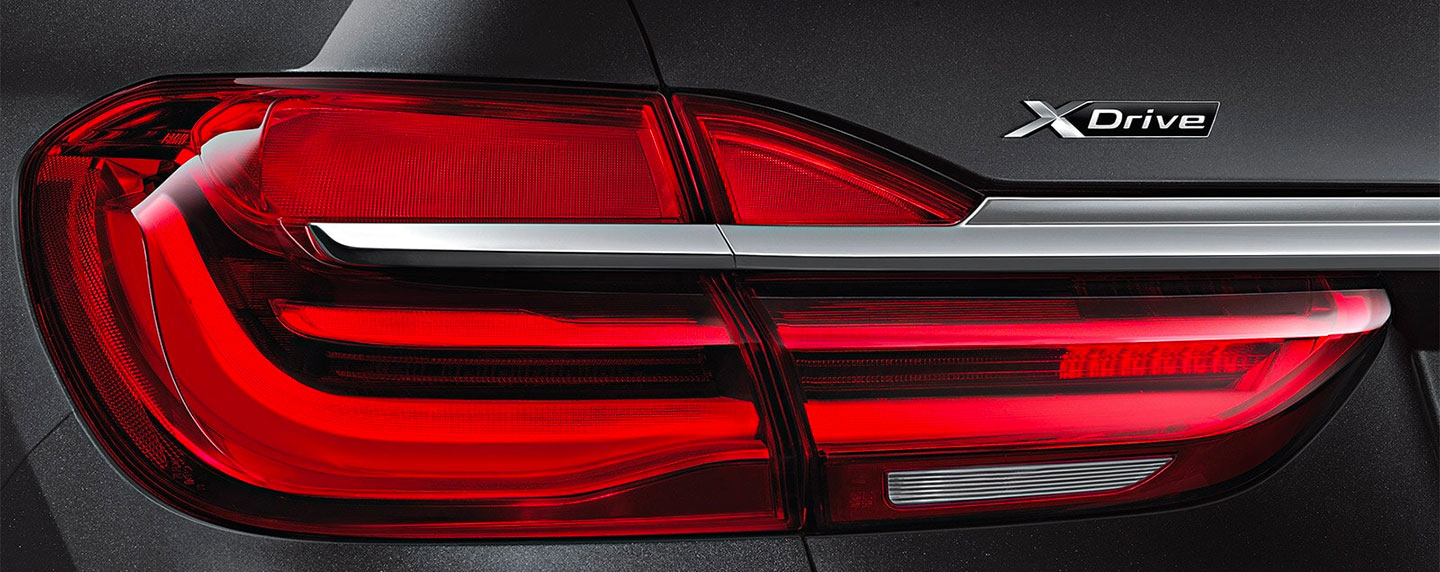Tail light of the BMW 7 series