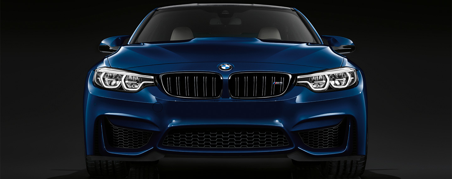 Front headlights and grille of the BMW M