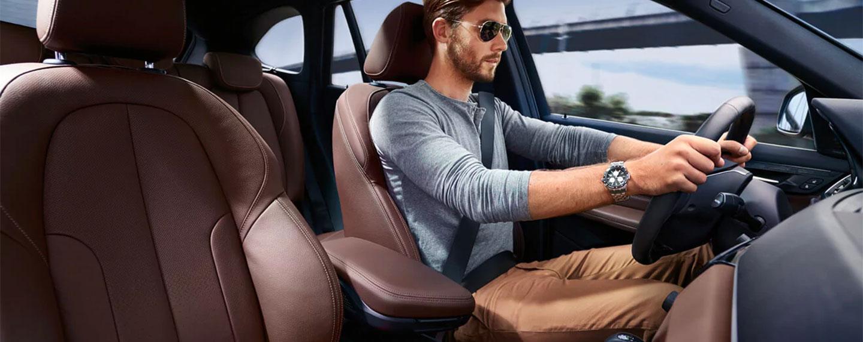 Man driving the BMW X1