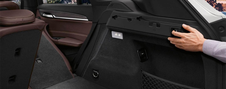 Backseat storage of the BMW X1