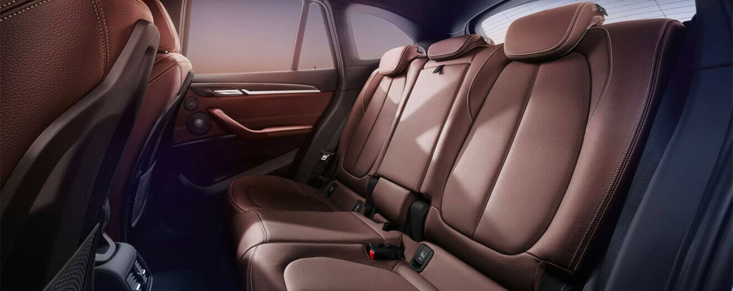 Back seats of the BMW X1