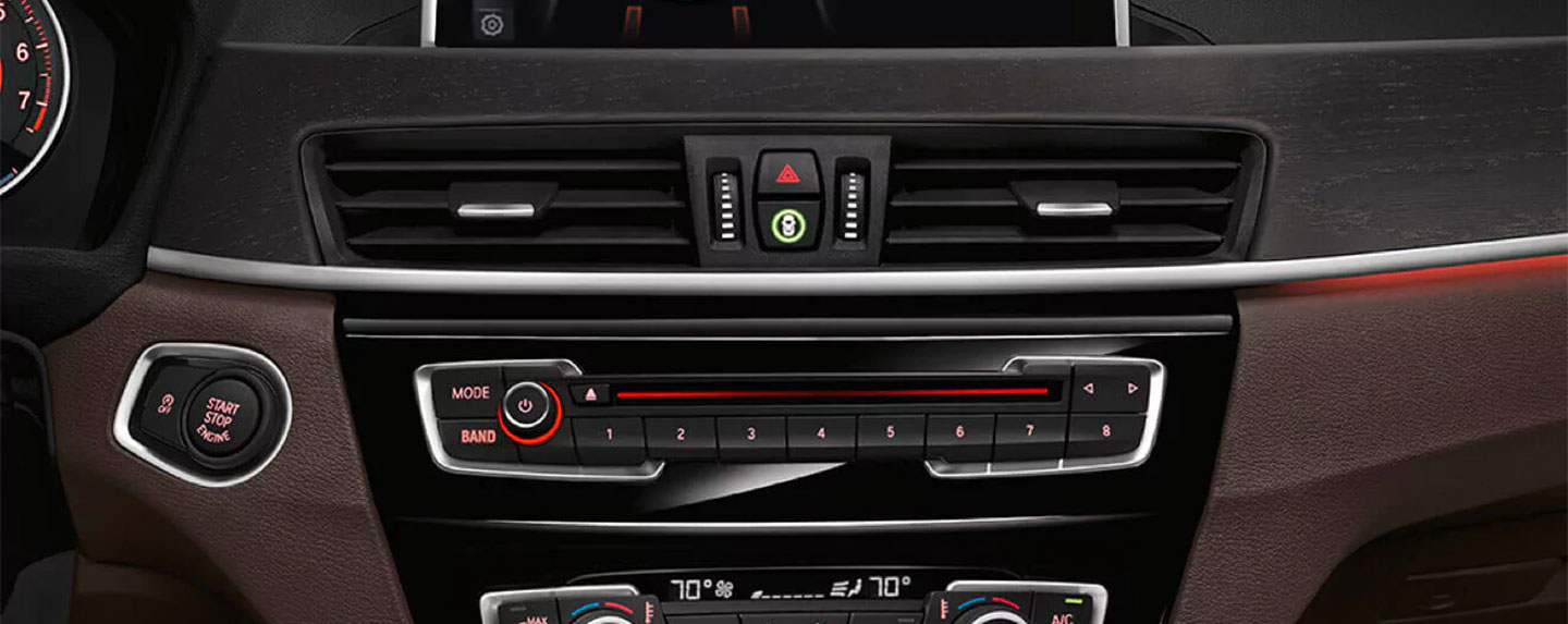 Dashboard controls in the BMW X1