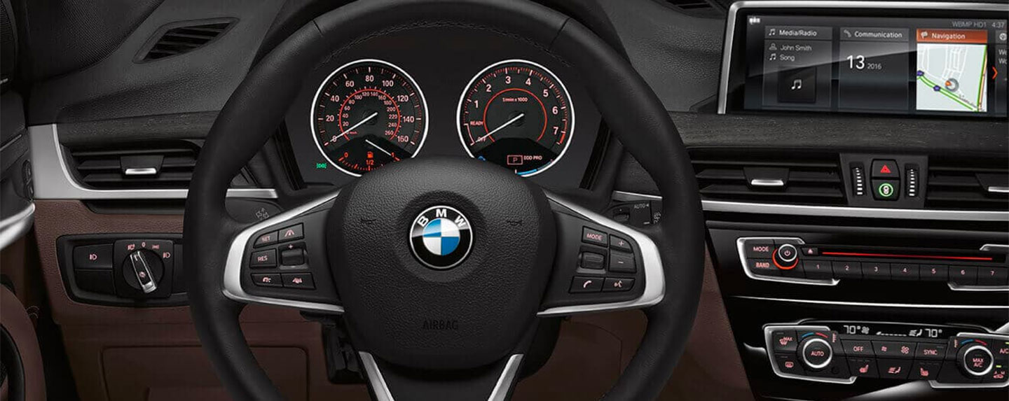Steering wheel of the BMW X1