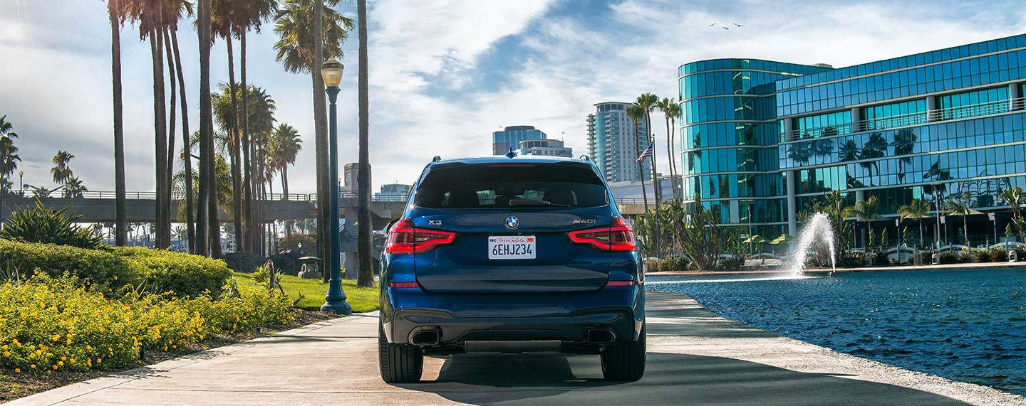 Rear of the BMW X3