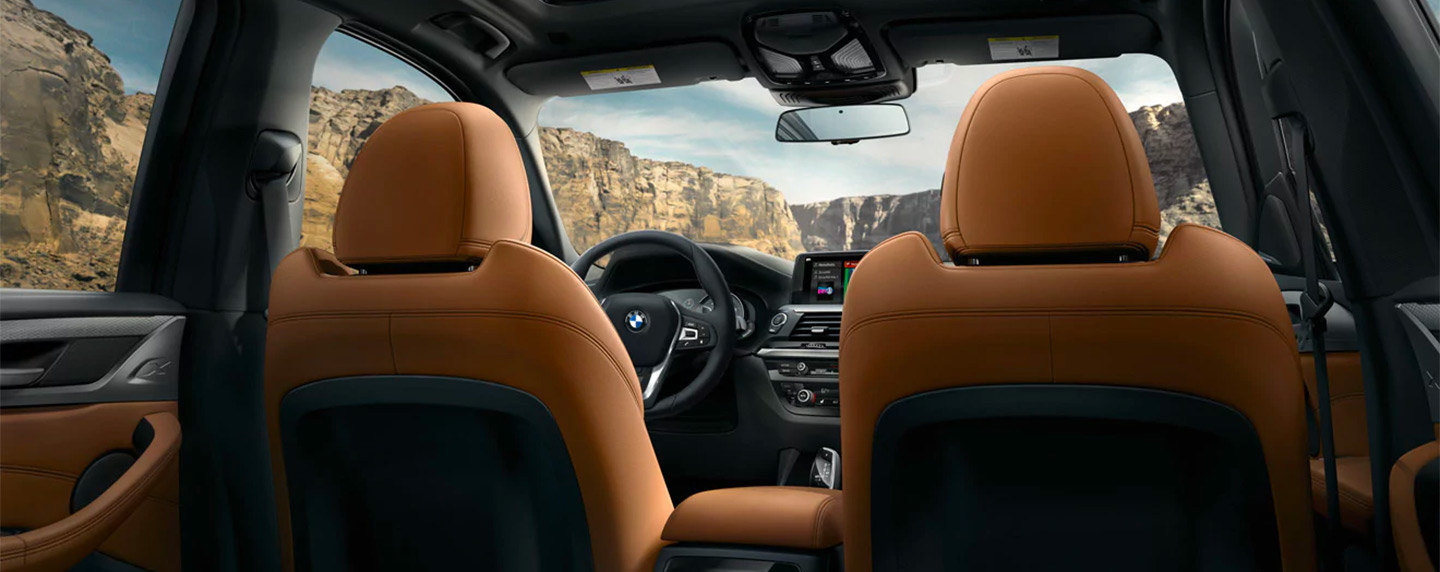Front seats of the BMW X3