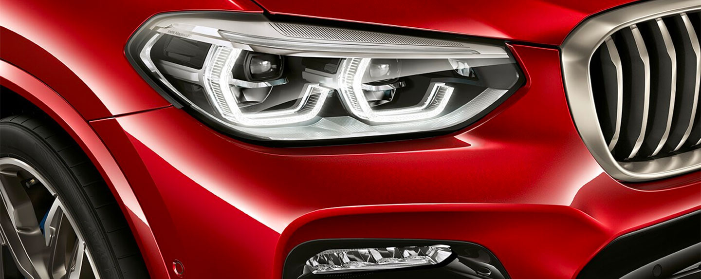 Front headlight of the BMW X4