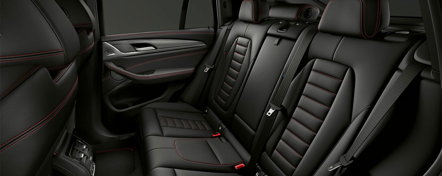 Back seats of the BMW X4