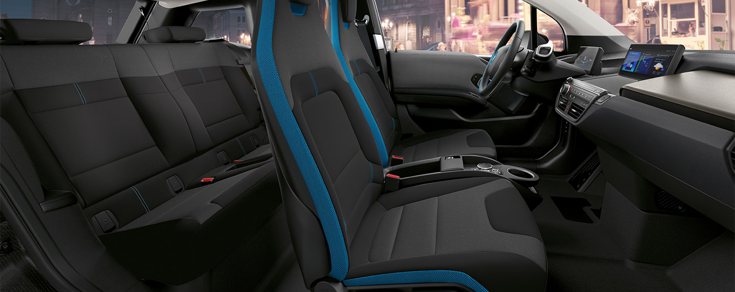 Driver and passenger seats of the BMW i3