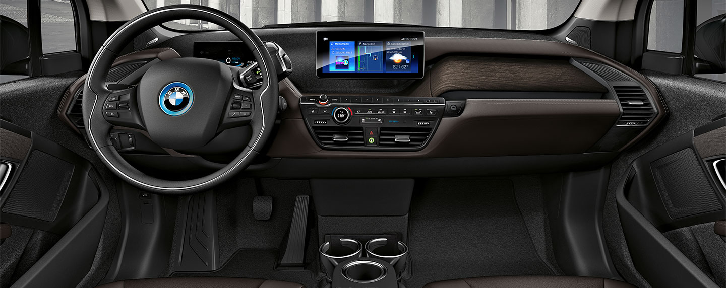 Steering wheel of the BMW i3