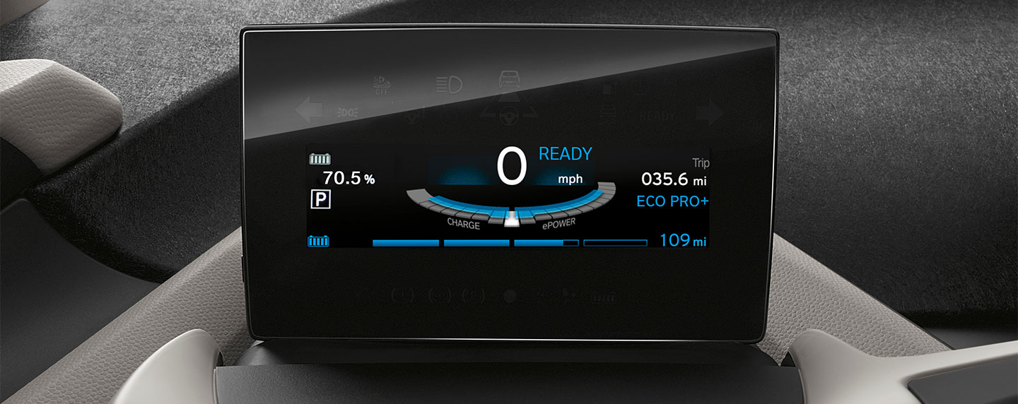 Dashboard touchscreen of the BMW i3