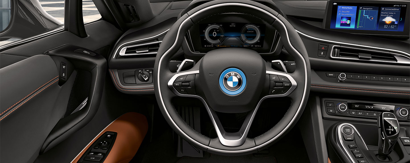 Steering wheel of the BMW i8