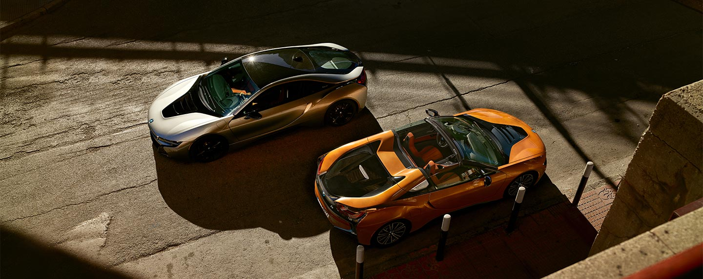 Top sides of the BMW i8 lineup