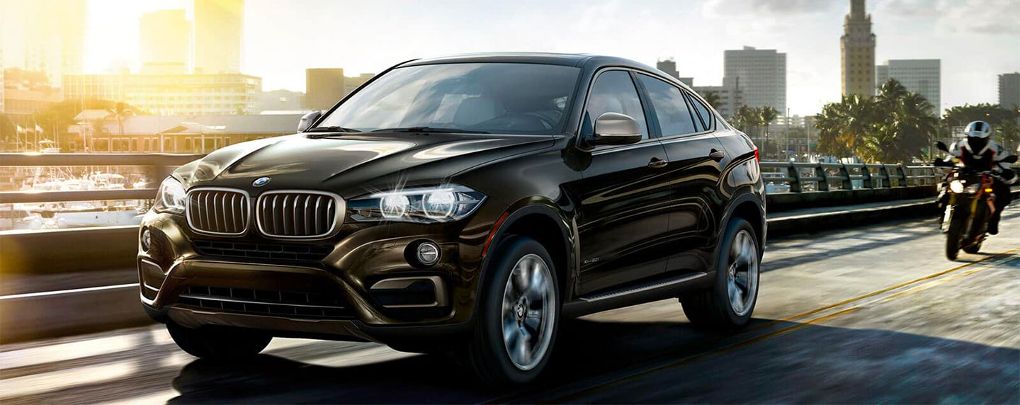 Front left of the BMW X6 driving