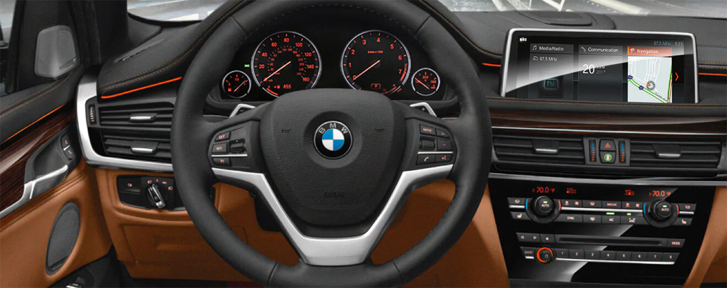 Steering wheel of the BMW X6