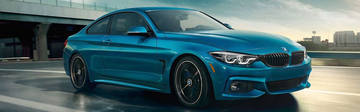 2020 BMW 4 Series driving on the highway