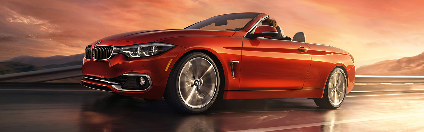 2020 BMW 4 Series convertible with top down