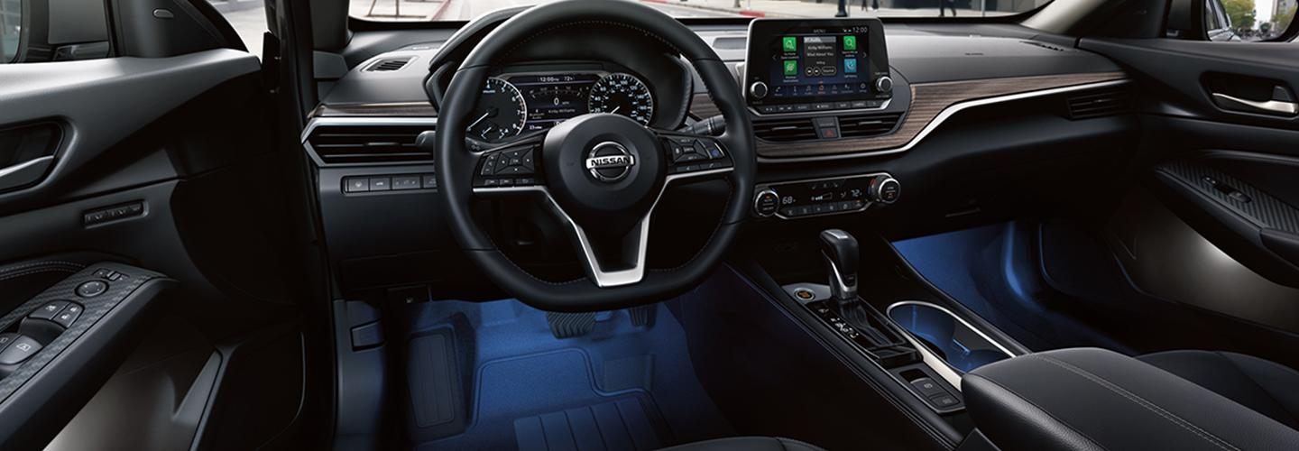 Interior of the 2020 Nissan Altima available at Wesley Chapel Nissan